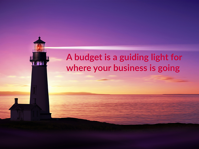 Think of a budget as a guiding light for where your business is going to go within a specified period.